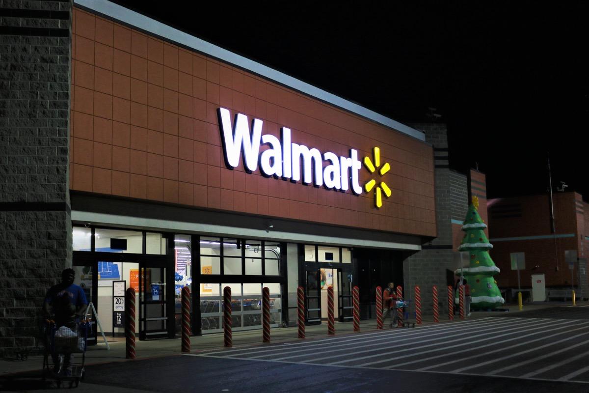 walmart exterior at night