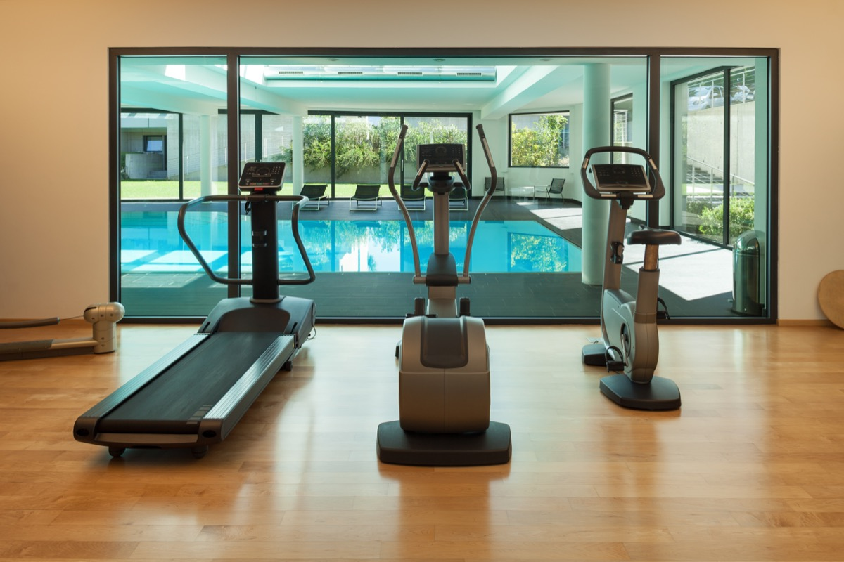 Gym and wellness center hotel