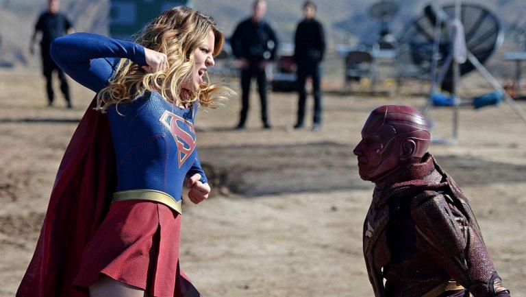 fight scene on supergirl