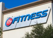 24 hour fitness gym exterior and sign