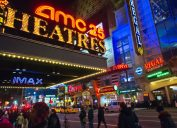 AMC Theatres marquee in Times Square
