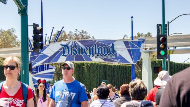 Disneyland Resorts sign in Anaheim