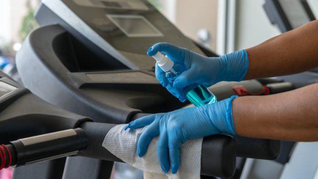 Sanitizing treadmill