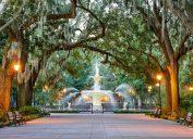 Famous fountain in Savannah GA