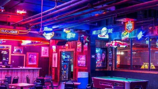 Empty bar in Texas