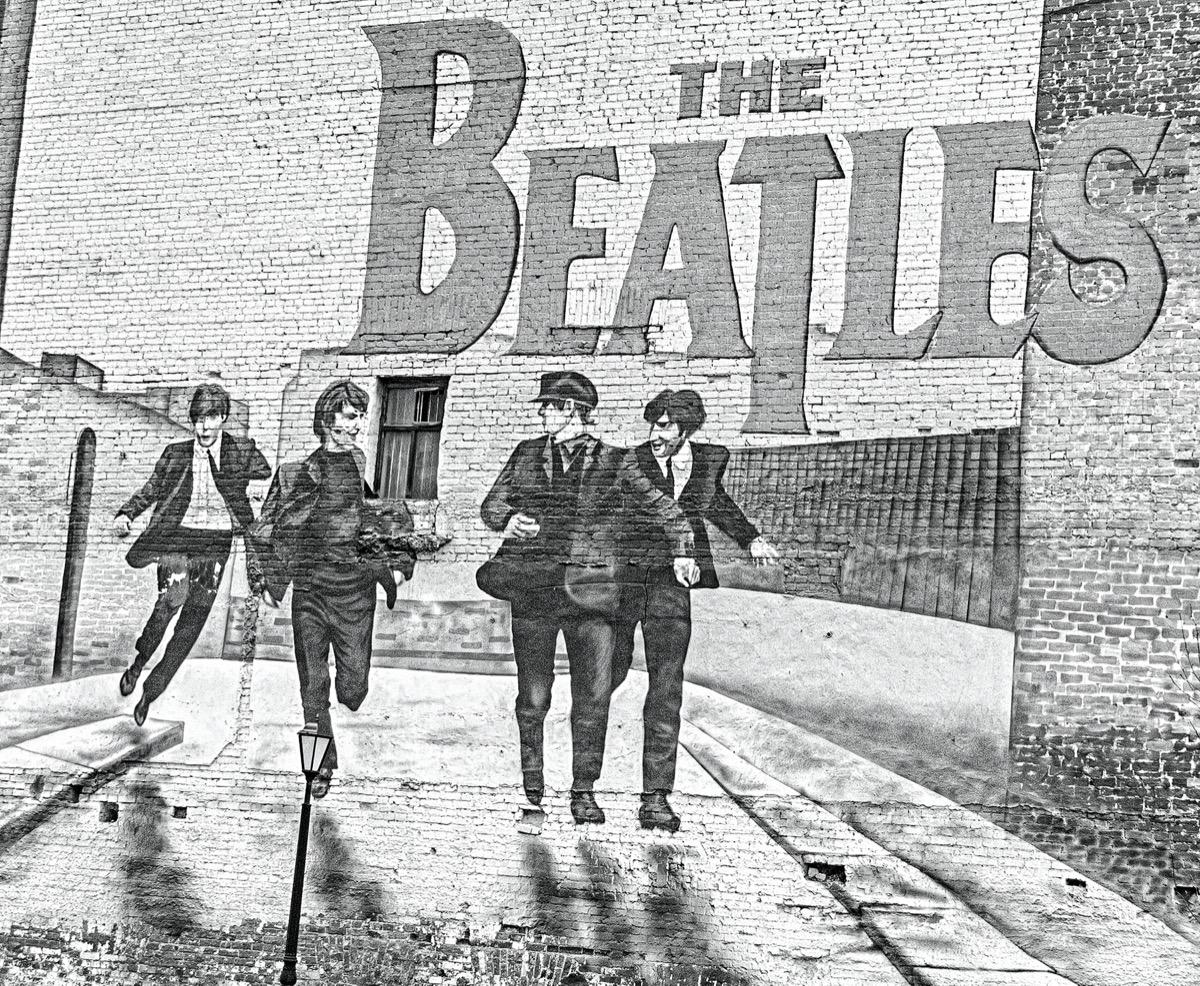 The Beatles wall mural