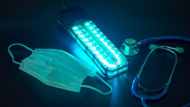 uv light with mask