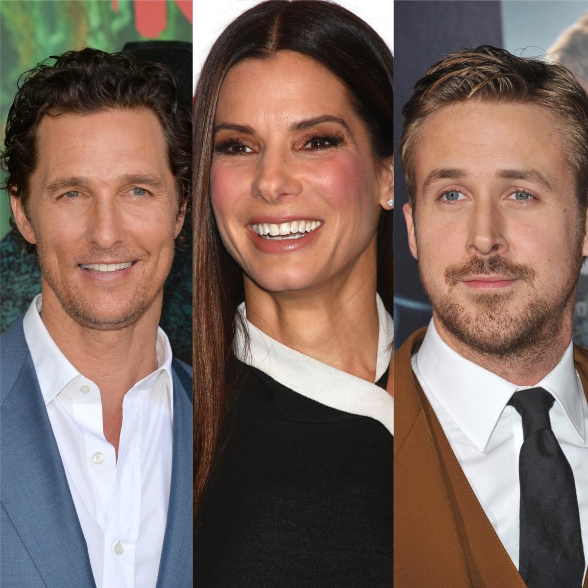 Matthew McConaughey, Sandra Bullock, and Ryan Gosling