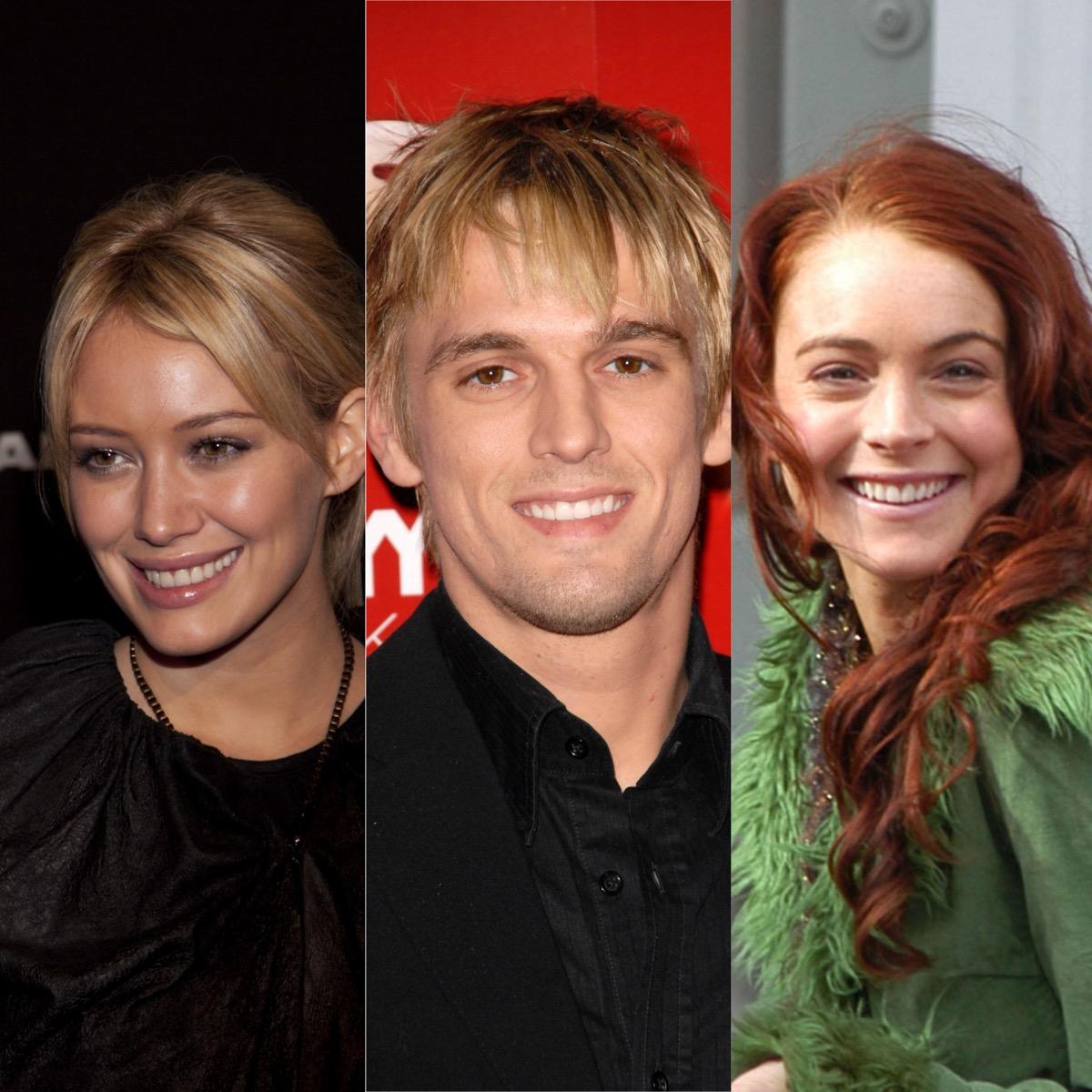 Hilary Duff, Aaron Carter, and Lindsay Lohan