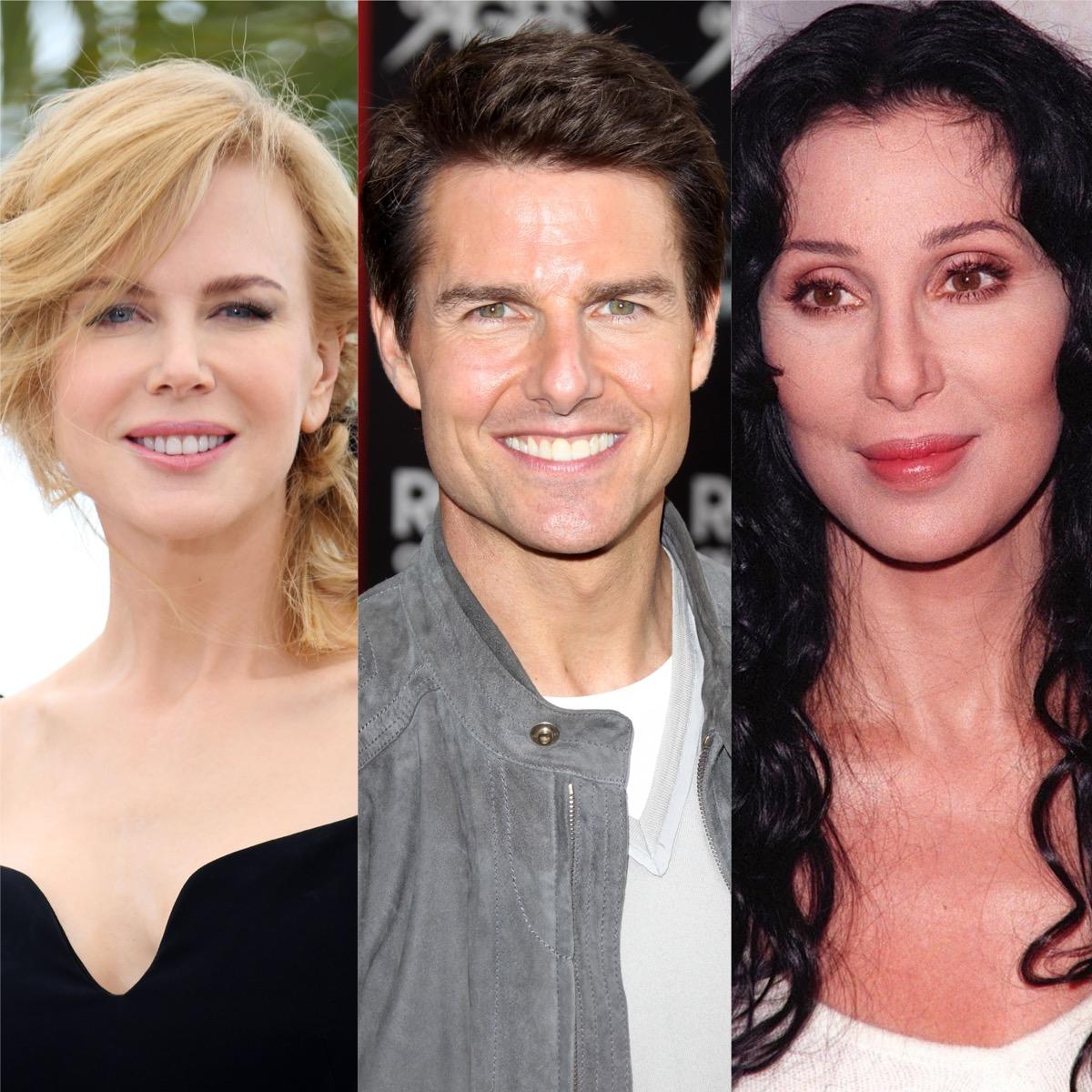 Nicole Kidman, Tom Cruise, and Cher