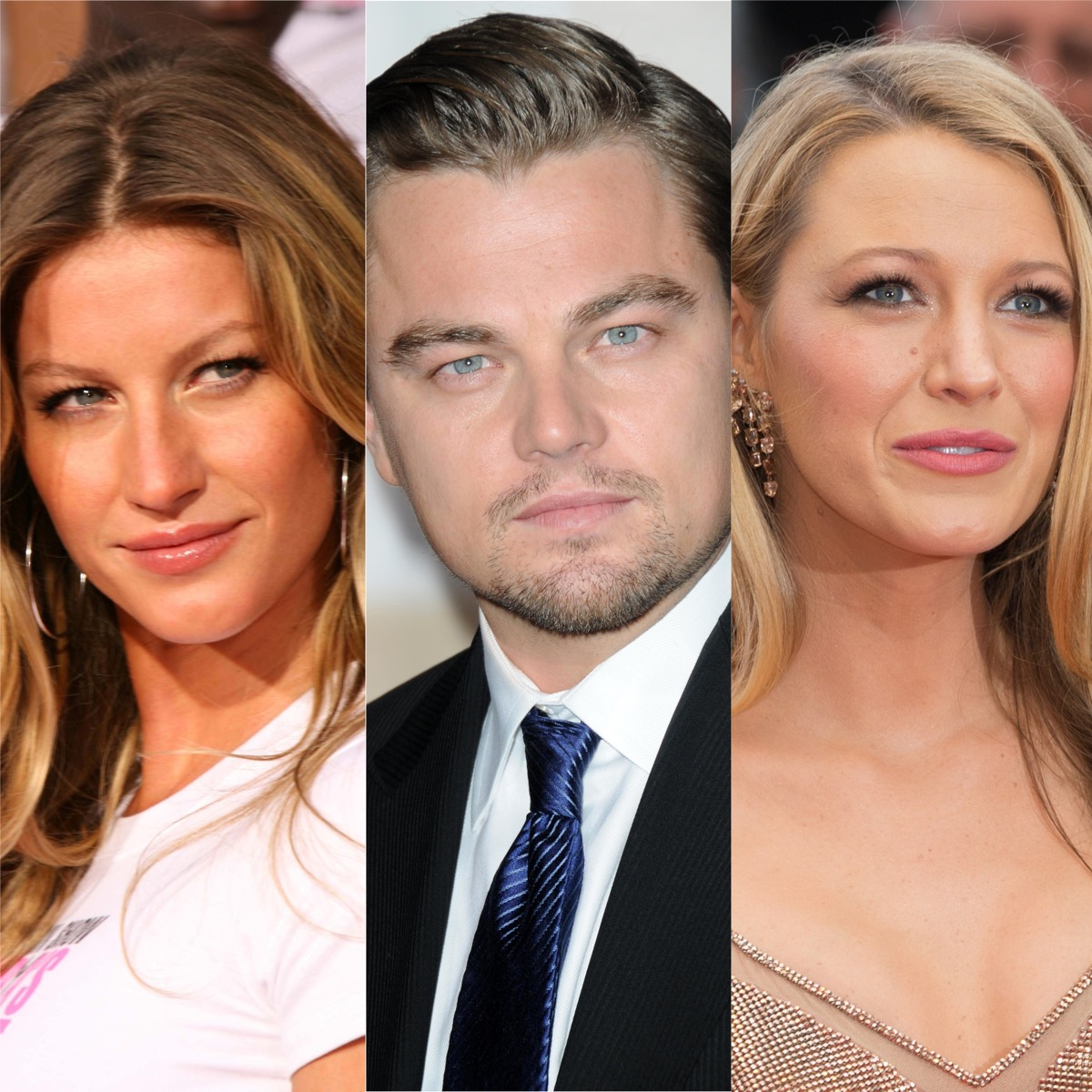 Gisele Bundchen, Leonardo DiCaprio, and Blake Lively