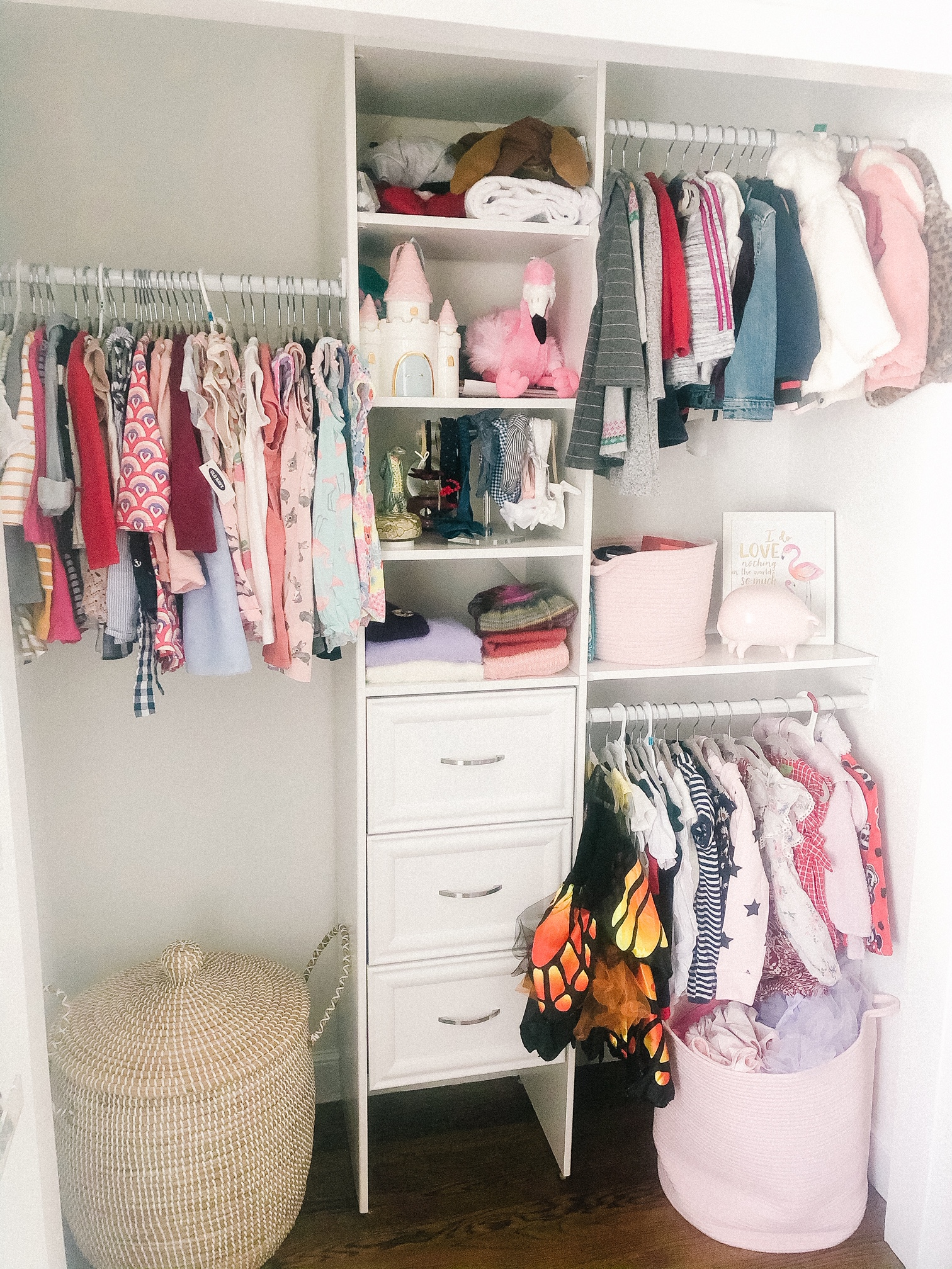 custom toddler closet
