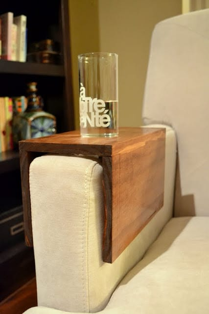 wooden couch sleeve