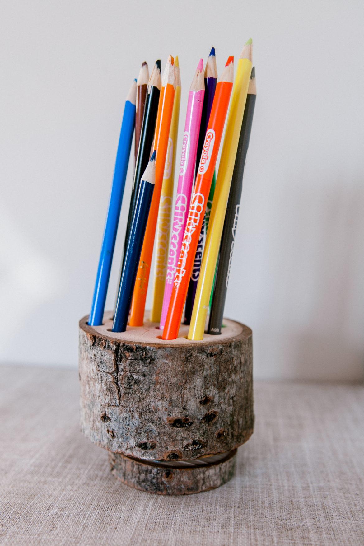 lazy susan pencil holder