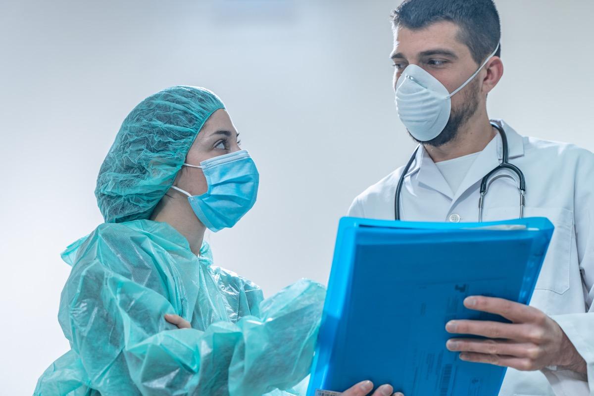 Doctors in masks during coronavirus
