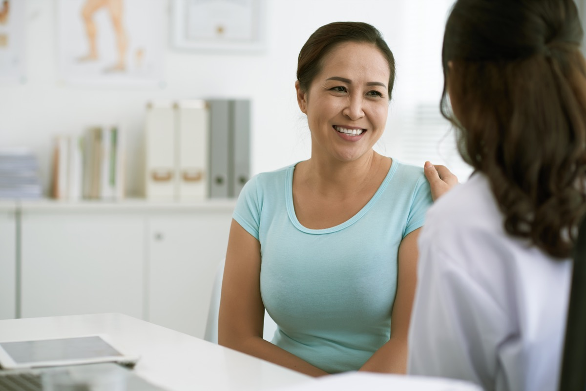 Doctor being empathetic to patient