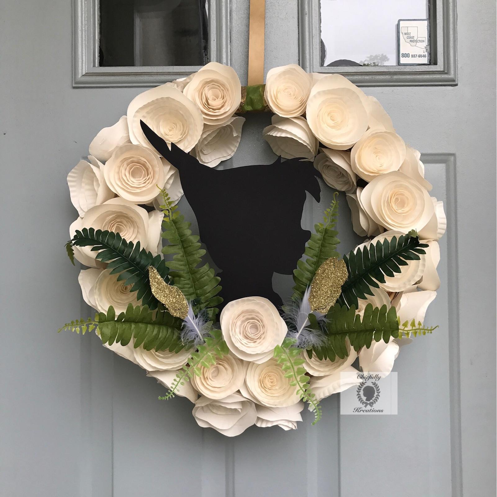 peter pan wreath