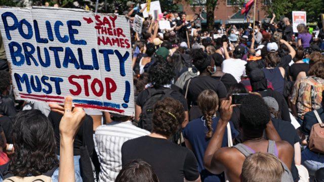 black lives matters protestors in new york city