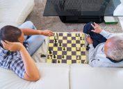 Grandpa playing chess