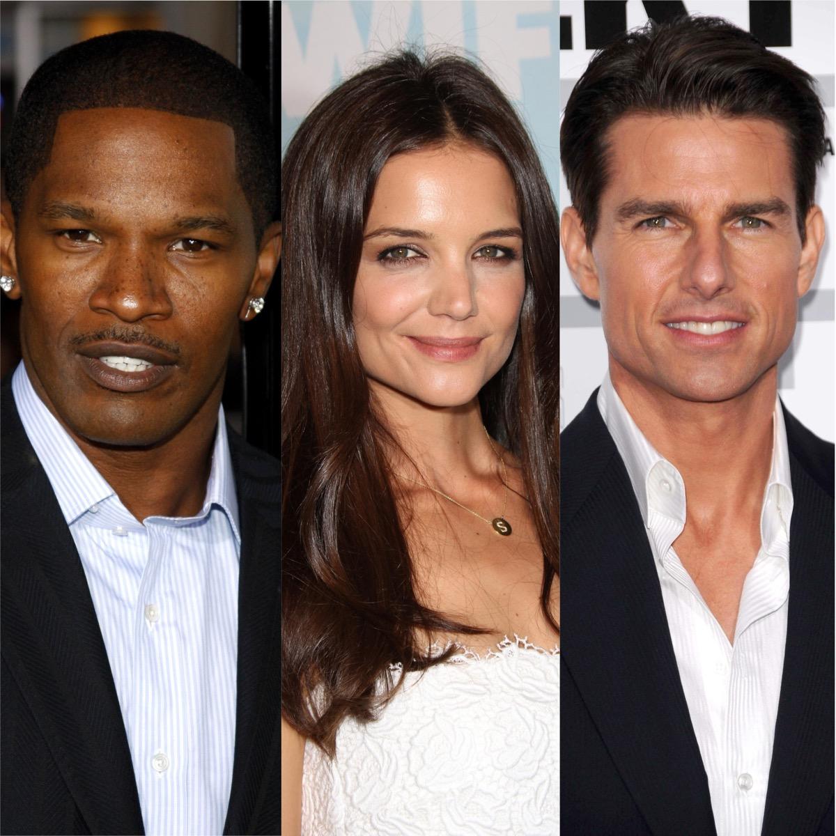 Jamie Foxx, Katie Holmes, and Tom Cruise