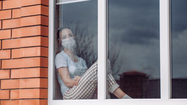 Woman at home during quarantine