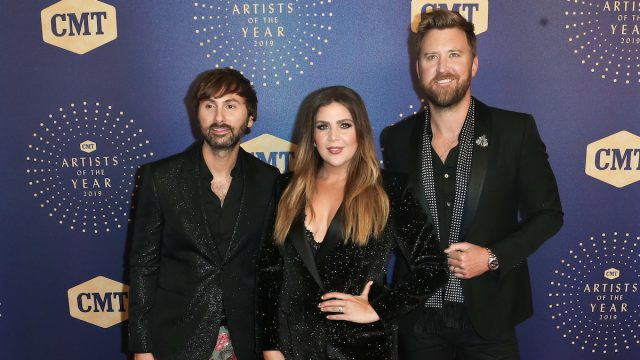 the group then known as Lady antebellum–Dave Haywood, Hillary Scott & Charles Kelley–attend the 2019 CMT Artists of the Year at Schermerhorn Symphony Center on October 16, 2019 in Nashville.