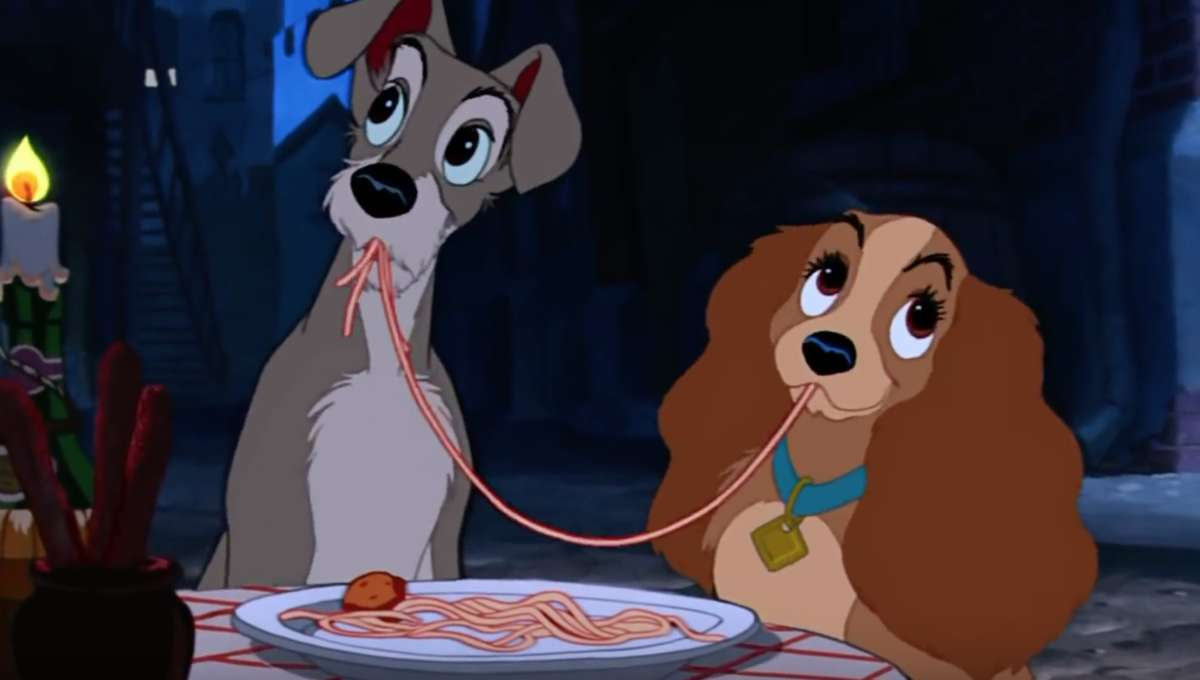 still from lady and the tramp