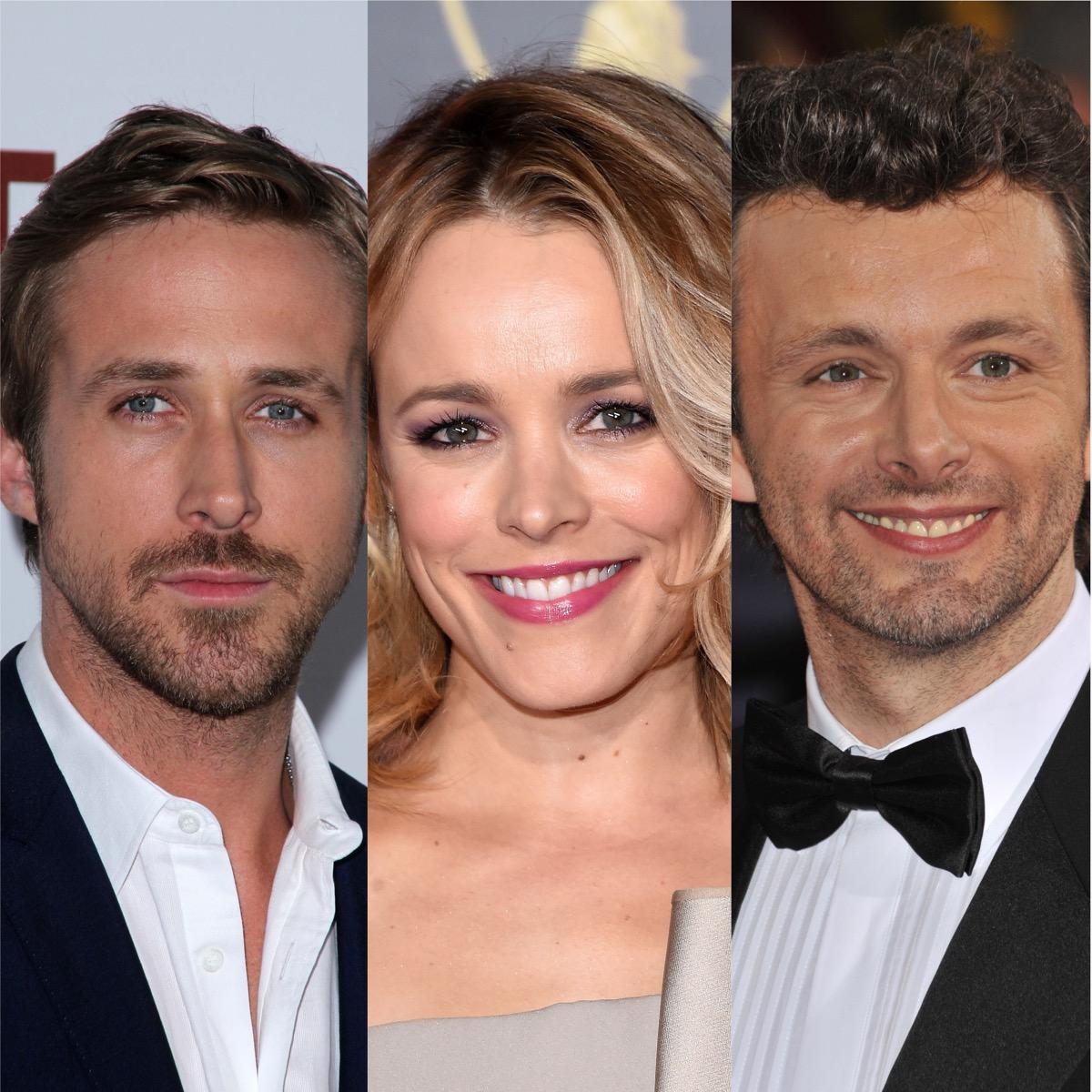 Ryan Gosling, Rachel McAdams, and Michael Sheen
