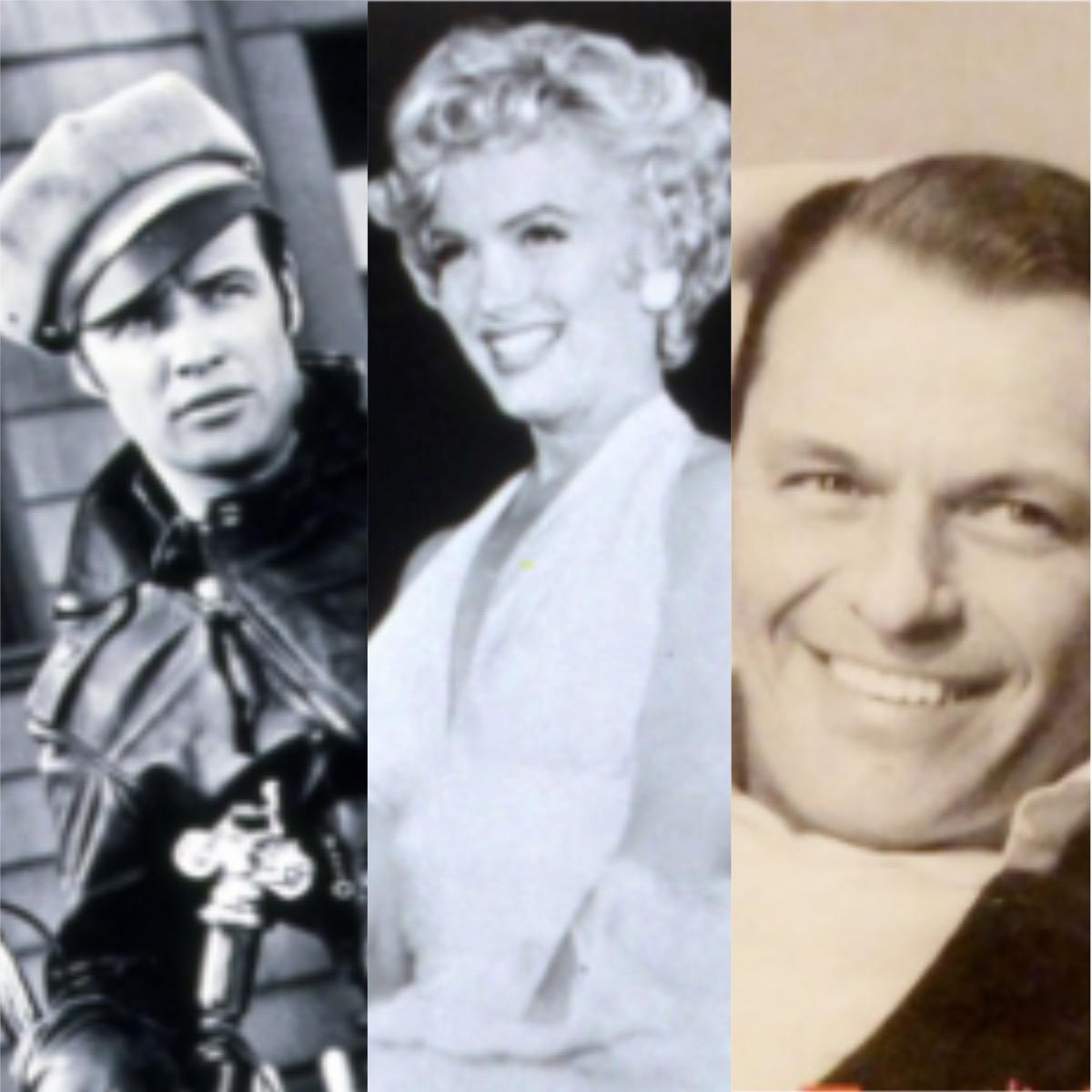 Marlon Brando, Marilyn Monroe, and Frank Sinatra