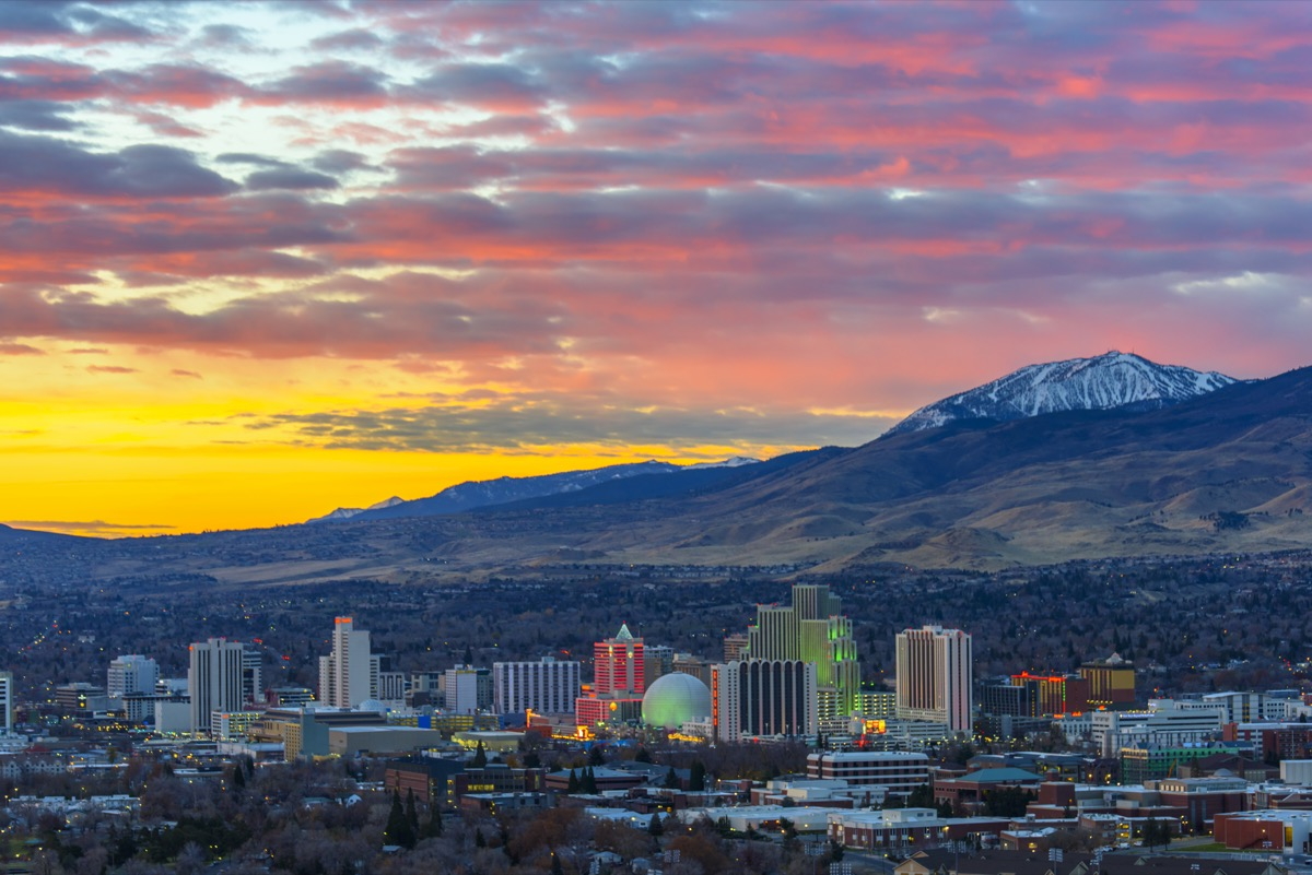 Reno at sunrise