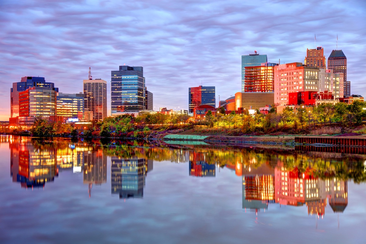 Newark is the largest city in New Jersey. Newark is one of largest rail and air hubs in the nation. Newark is known for its glamorous performing arts venues, premium outlet mall, museums, and the argest collection of cherry blossoms.