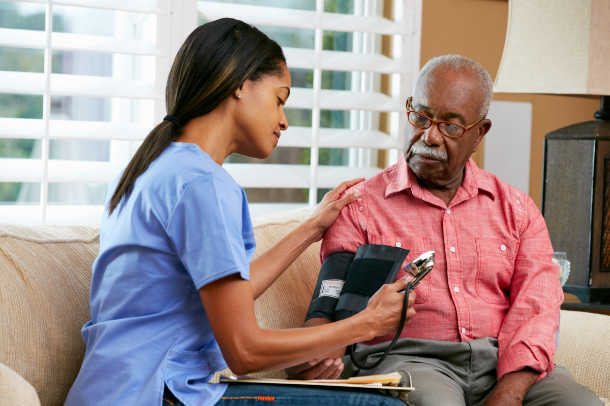 Older patient with nurse