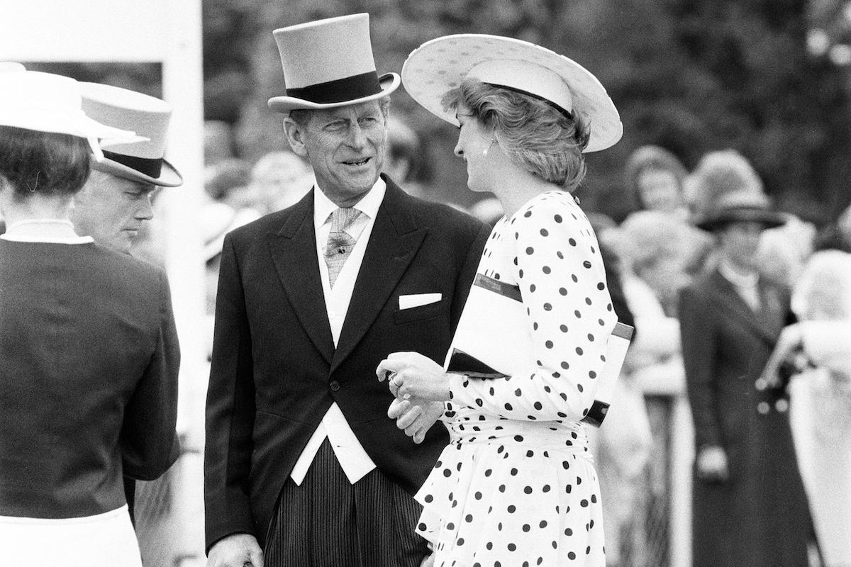 Princess Diana & Prince Philip in June 1986