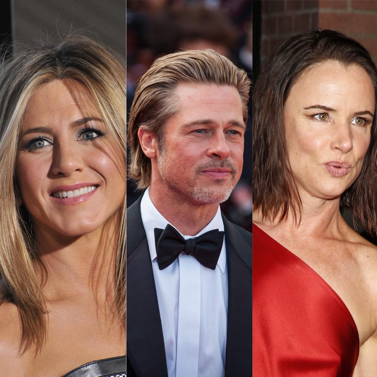 Jennifer Aniston, Brad Pitt, and Juliette Lewis