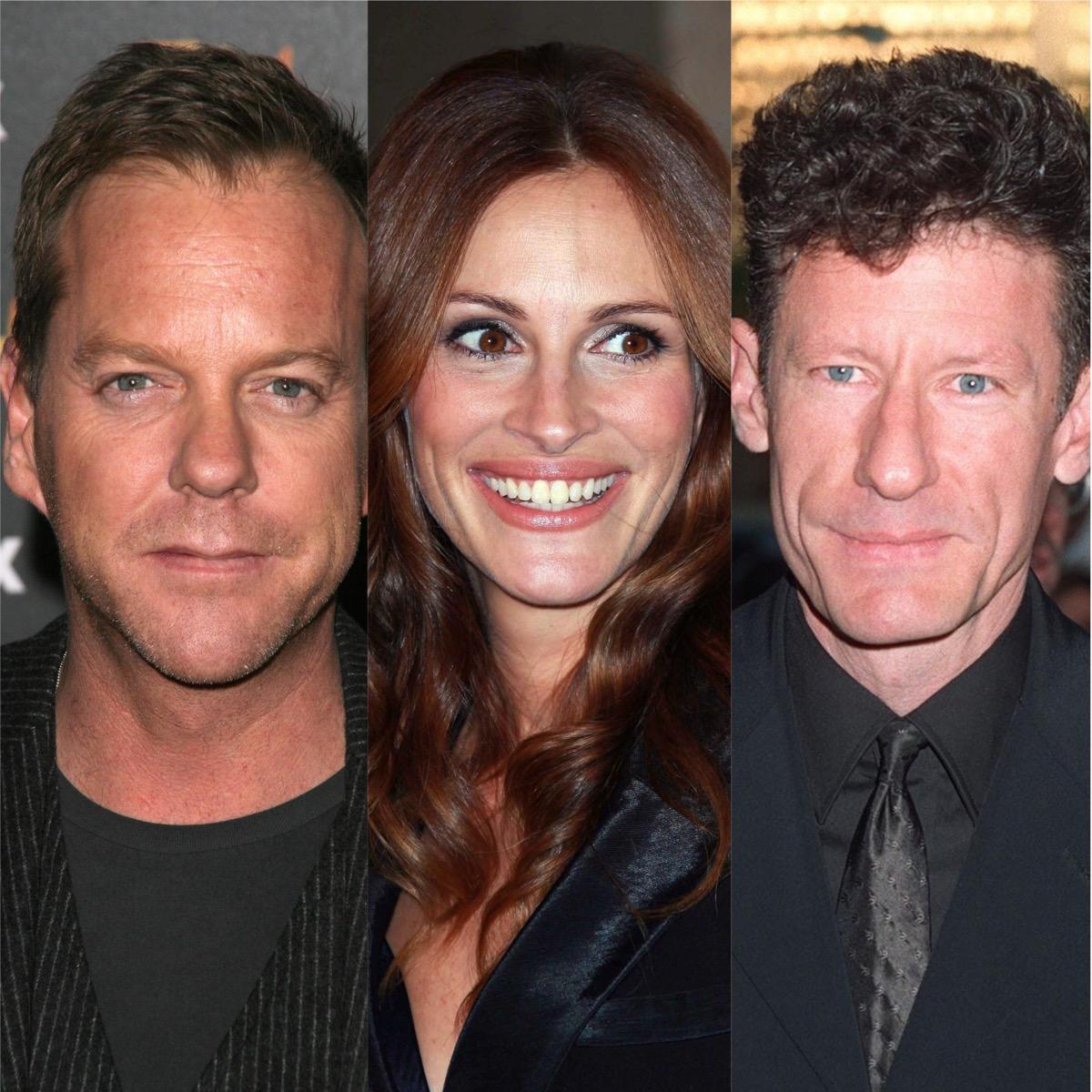 Kiefer Sutherland, Julia Roberts, and Lyle Lovett