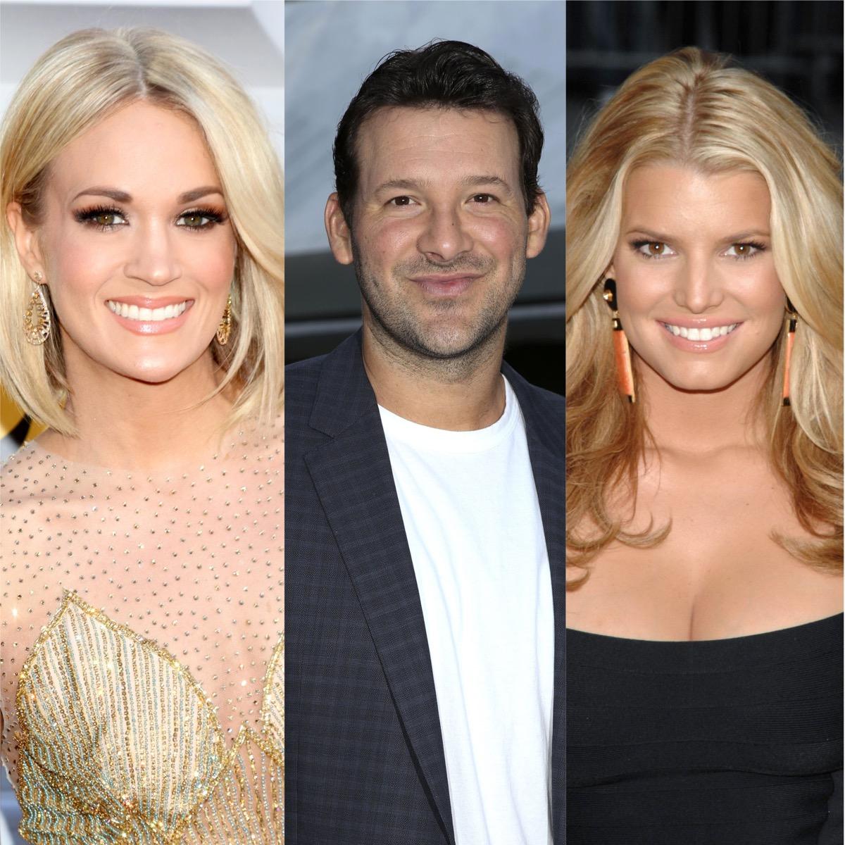 Carrie Underwood, Tony Romo, and Jessica Simpson
