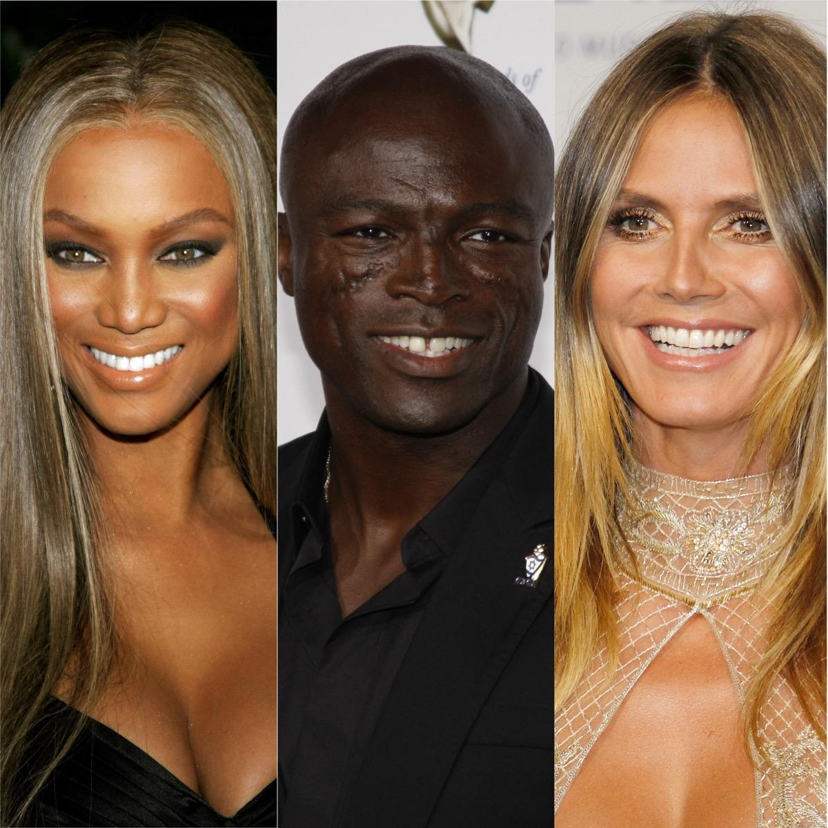 Tyra Banks, Seal, and Heidi Klum