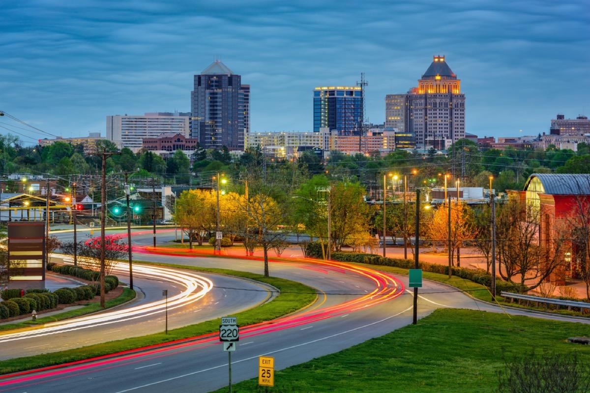 greensboro north carolina skyline