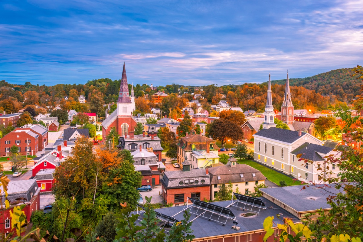 montpelier vermont from above