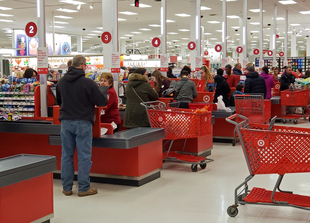 target checkout area