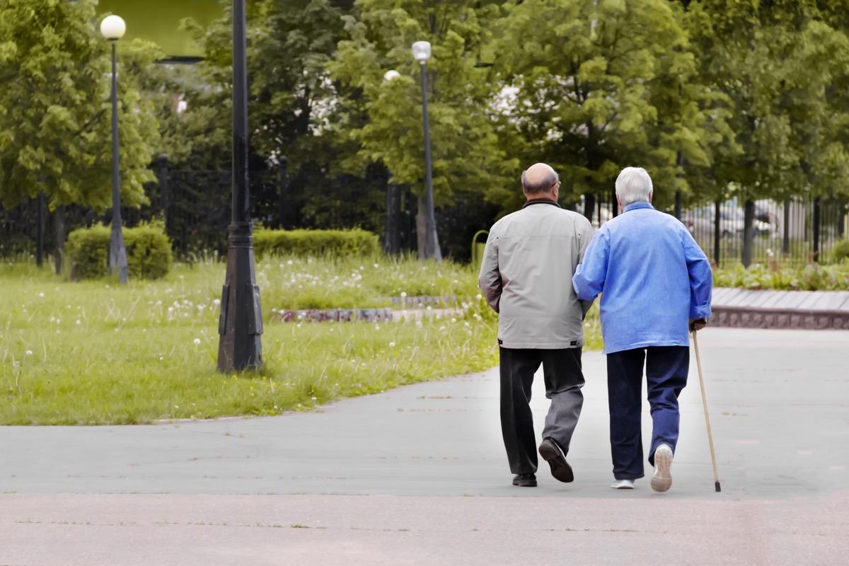 Older couple on a walk