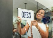 young black woman opening business