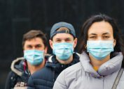 young people wearing face masks