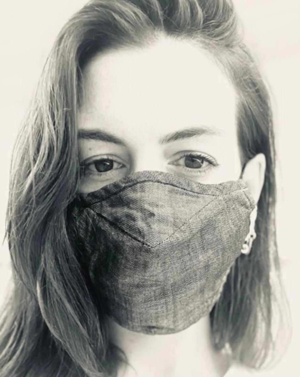 Anne Hathaway Instagram mask selfie