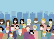 Covid demographic illustration