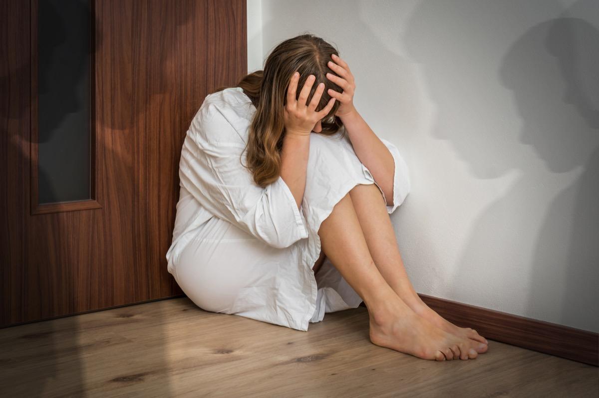 Woman experiencing hallucinations