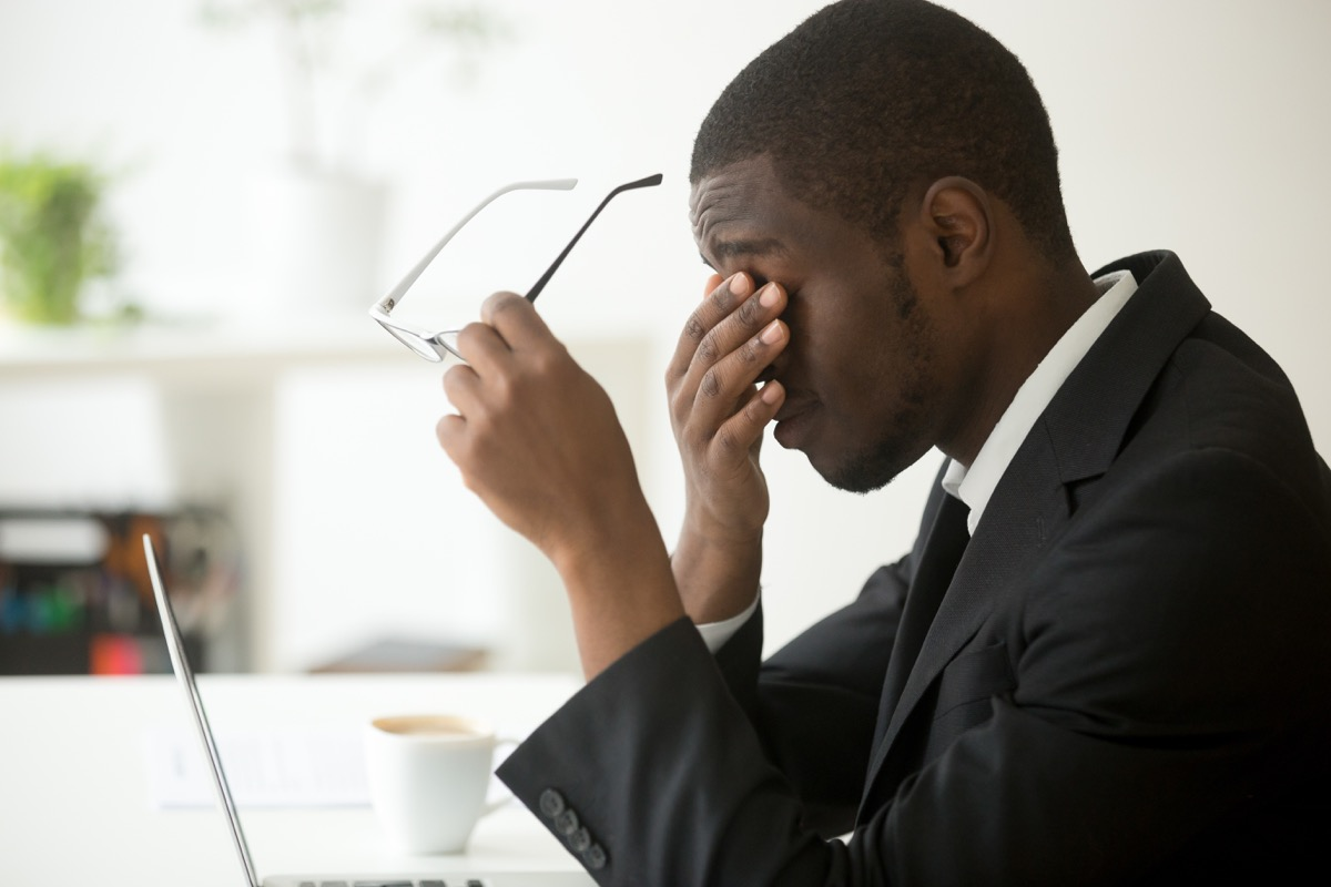 Man suffering from fatigue
