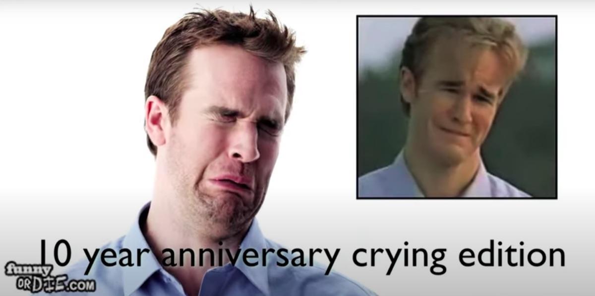 James Van Der Beek crying