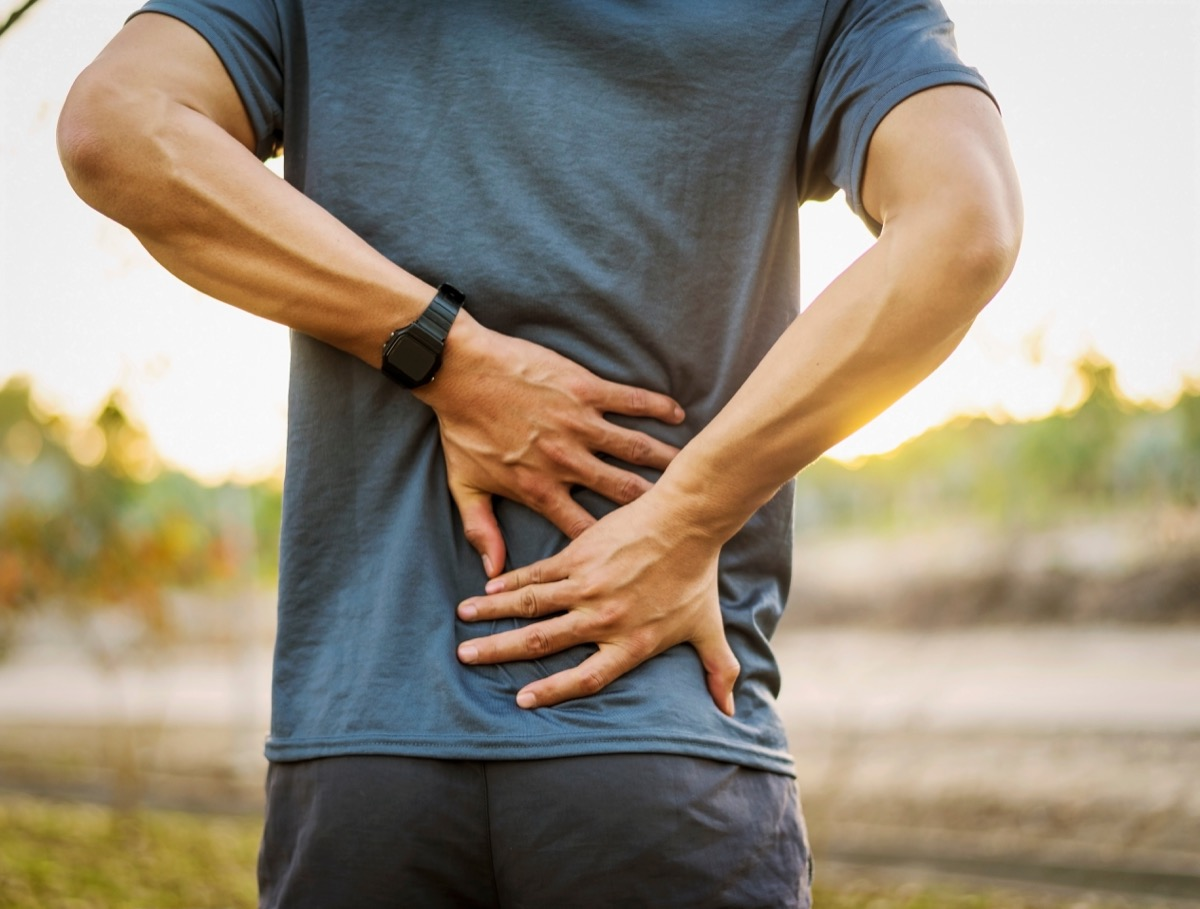 Man having muscle ache