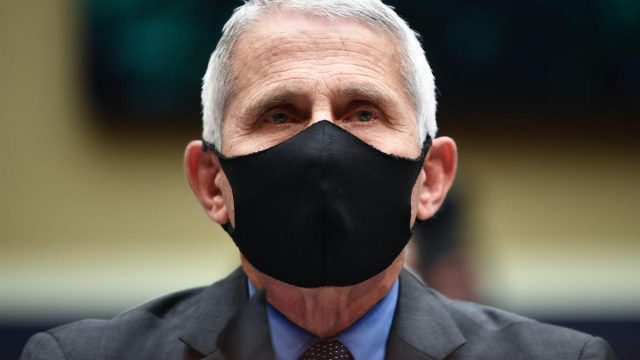 Director of the National Institute for Allergy and Infectious Diseases Dr. Anthony Fauci wears a face mask while he waits to testify before the House Committee on Energy and Commerce on the Trump Administration's Response to the COVID-19 Pandemic, on Capitol Hill in Washington, DC on Tuesday, June 23, 2020.